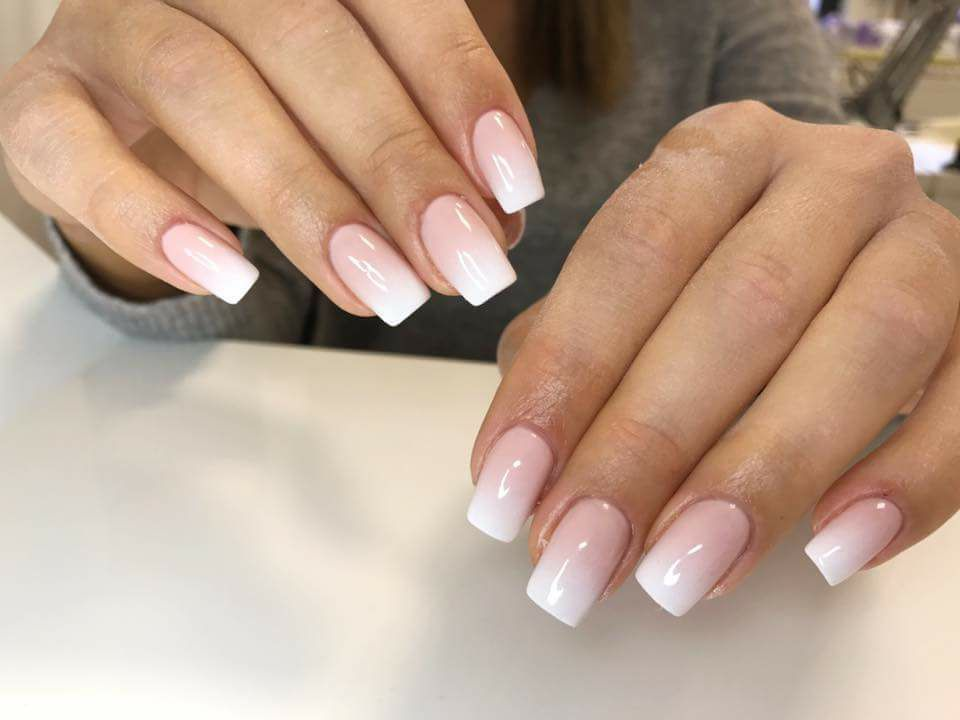 french ombre gel nails tutorial