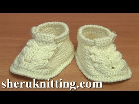 crochet baby shoes video tutorial