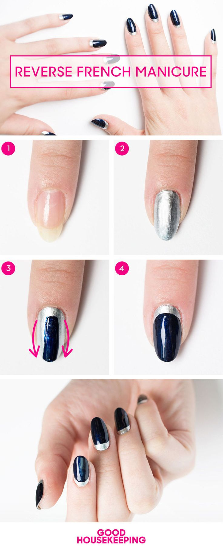 easy french manicure tutorial
