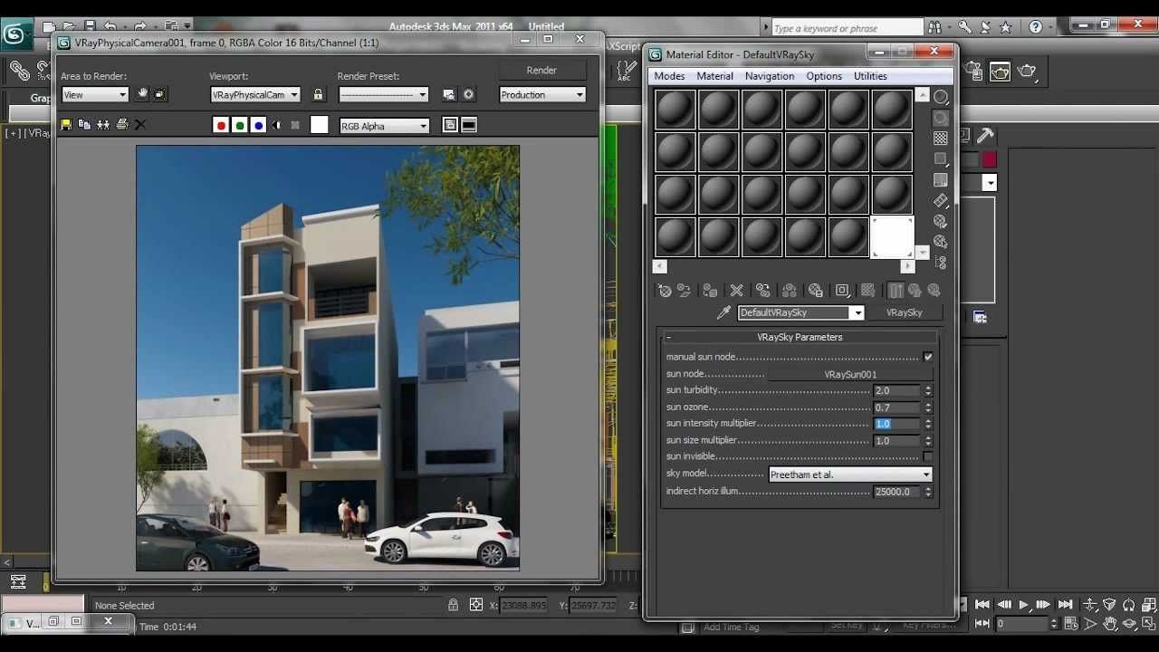 3ds max mental ray exterior rendering tutorial