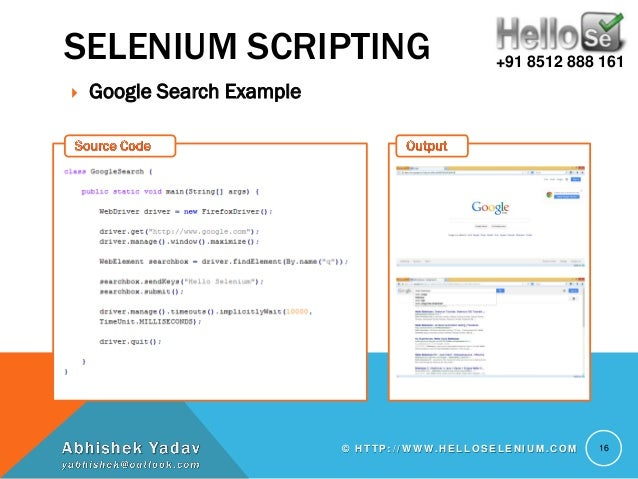 selenium webdriver tutorial java with examples pdf free download